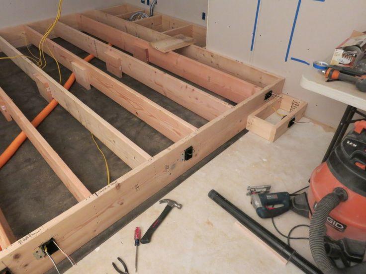 Framing Nailer On The Frame Deck Screws For The Decking