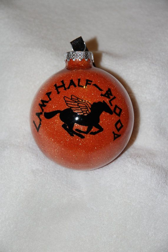 Camp Half Blood Percy Jackson Glitter Christmas Ornament