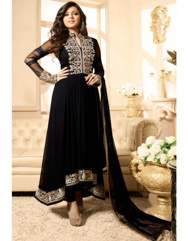 Drashti Dhami Eid Special Black Anarkali Suit