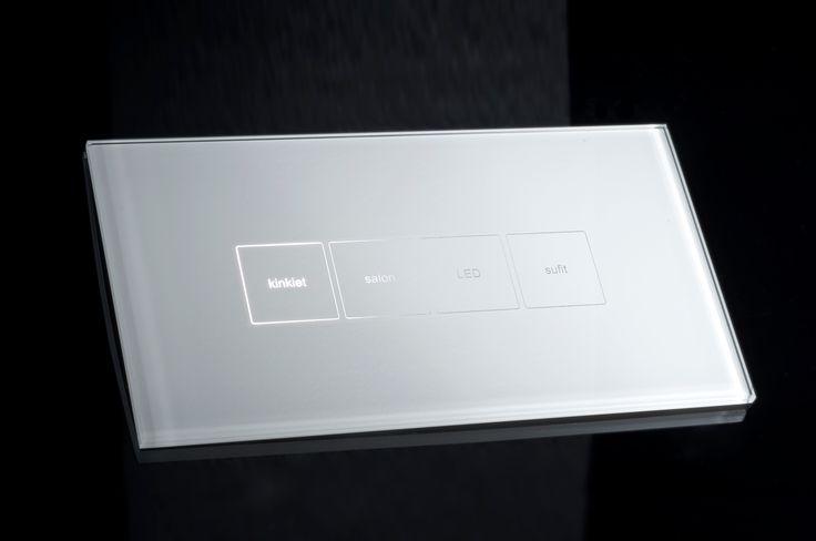 Włącznik dotykowy z możliwością indywidualnych opisów/ Touch light switch with possibility for personal descriptions.