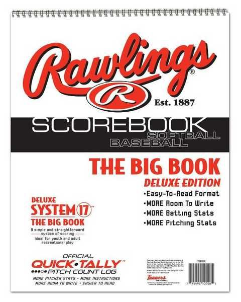 Rawlings DELUXE System-17 Baseball/Softball Scorebook BIG BOOK Edition 17SBDLX