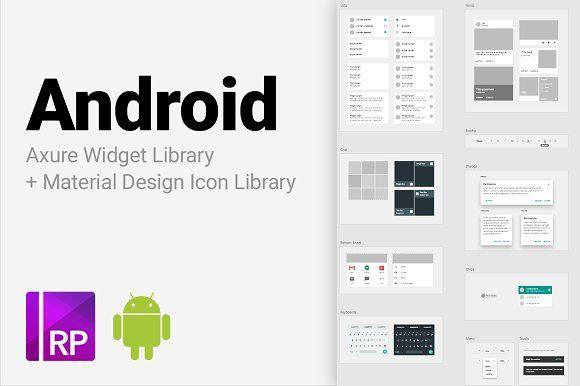 Android Axure Widget Library Google Material Design Website Template Design Widget
