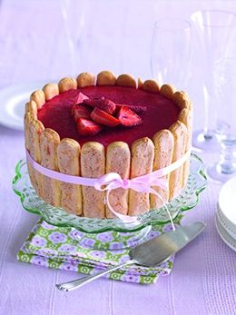 Strawberry Charlotte Cake - foodmag nz