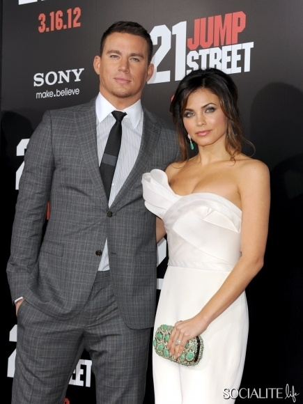 Actors Channing Tatum and Jenna Dewan arrive at the premiere of Columbia Pictures' '21 Jump Street': New Movie, Celebs Couple, Perfect Couple, Favorite Couple, Chan Tatum, Tatum Talk, Actor Chan, Movie Today, Chan Jenna