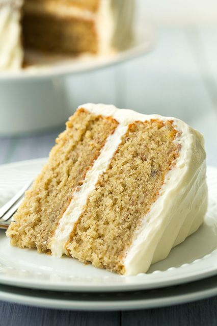 Banana Cake with Fluffy Cream Cheese Frosting