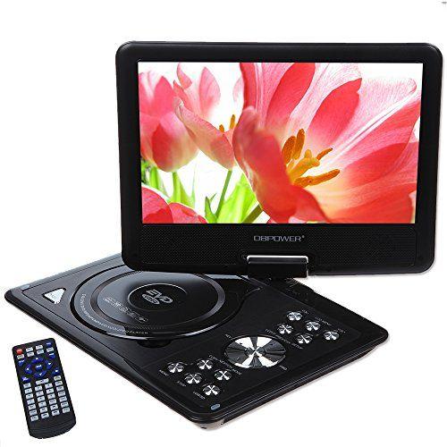 DBPOWER® 9.5'' Reproductor de DVD Portátil con Sintonizador Digital Terrestre Integrado, USB, Mando a Distancia, Cargador de coche, Pantalla Giratoria (negro) #iphone #blogtecnologia #tecnologia