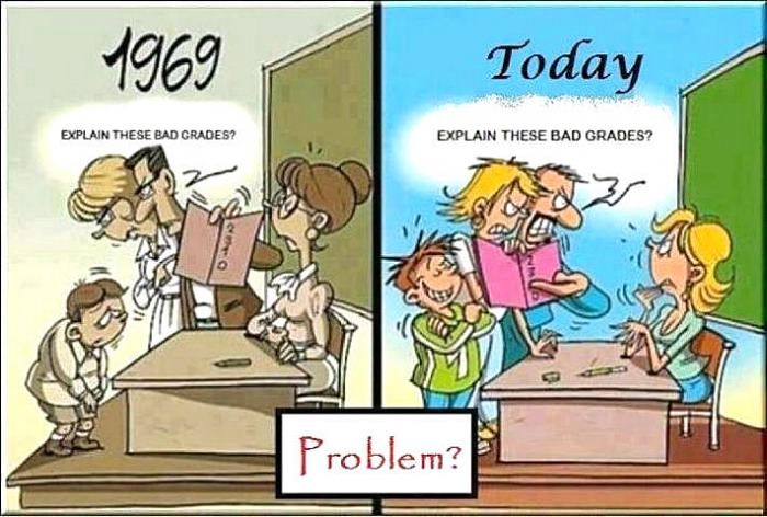 Explain these bad grades: 1969 vs today