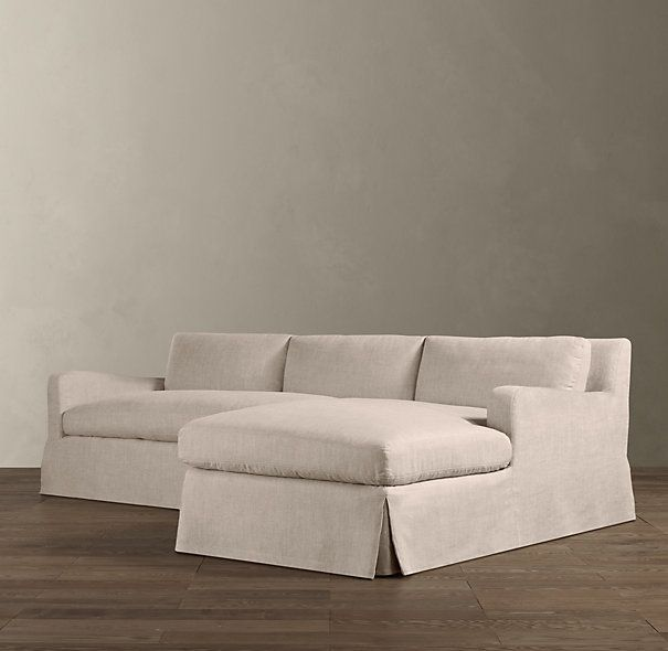 Belgian Slope Arm Slipcovered Sofa Chaises | Sectionals | Restoration Hardware