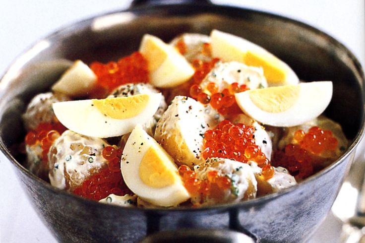 Potato & Egg Salad With Sour Cream Recipe - Taste.com.au