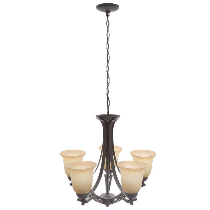 Commercial Electric 5-Light Rustic Iron Chandelier-ESS8115-3 - The Home Depot