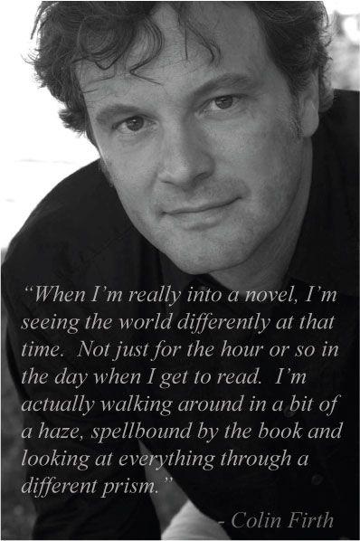 Colin Firth. So wonderful.