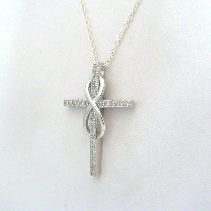 FashionJunkie4Life - Sterling Silver Infinity Cross Necklace, $22.00 (http://www.fashionjunkie4life.com/sterling-silver-infinity-cross-necklace/)