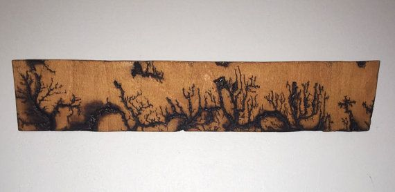this is a wall hanging piece made form 9mm plywood. i have applied a process called fractal wood burning, which requires connecting a electrical
