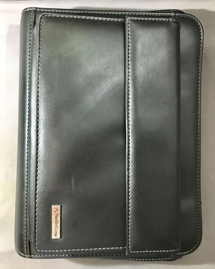 Franklin Cover MasterPlan Ring Bound Leather Day Planner Binder Black Contacts #FranklinCovey