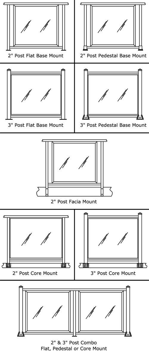 RailingWorks® Aluminum Glass Railing Design Options