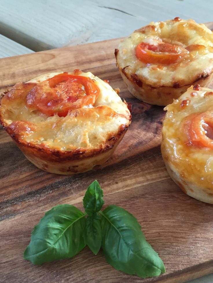Pizza muffins med kylling og ost | Homemade-blog