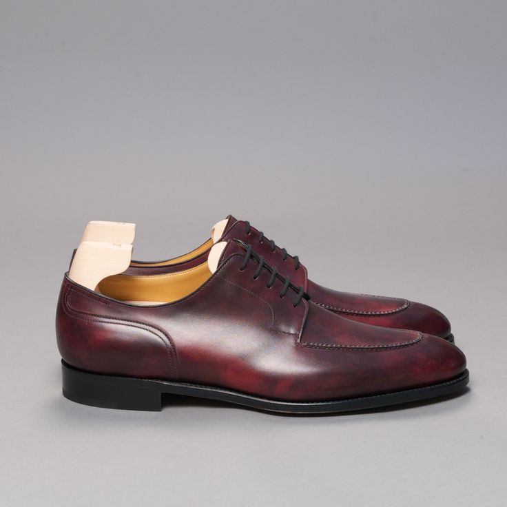 A great addition to any mans wardrobe. The chambord split toe derby in the beautiful plum museum calf by John Lobb ...