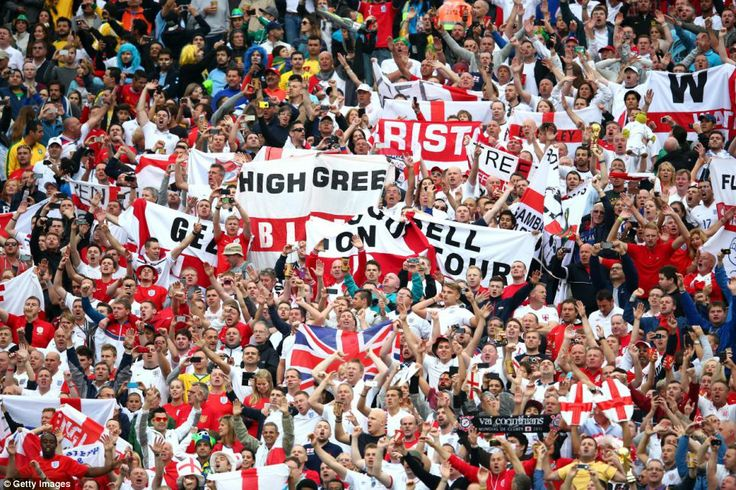 Tense: England fans are put through the mill again in Sao Paulo against Uruguay...