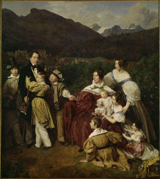 Bild:  Ferdinand Georg Waldmüller - Waldm}ller, Dr. Eltz s Family / 1835