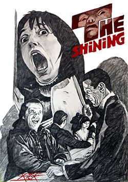The Shining - from the brain of Stanley Kubrick. An excellent film, a terrible adaptation of Stephen King. Art by Rick Melton.