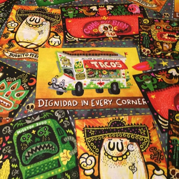 Hot Tamale Foodie Truck 100 cotton fabric sold by yard