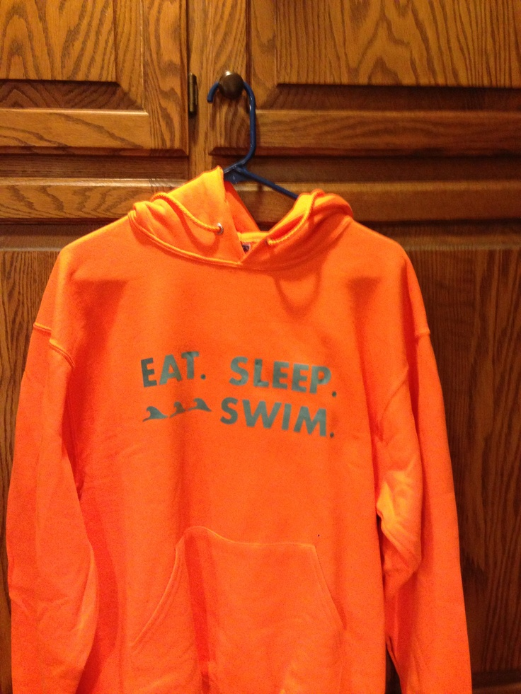 Hoodie for Emma (who likes to swim).  Font is Aharoni.  Stripflock heat transfer vinyl from http://www.expressionsvinyl.com/stripflock-heat-transfer-vinyl.html