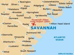 To travel to Savanna, Georgia