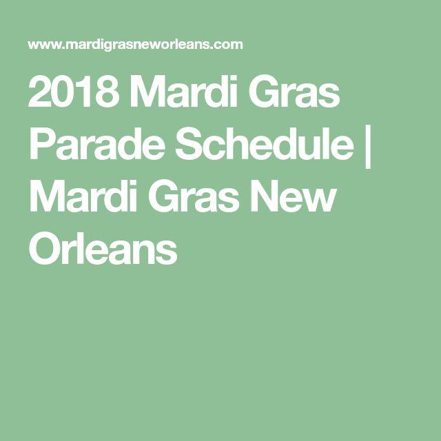 2018 Mardi Gras Parade Schedule | Mardi Gras New Orleans