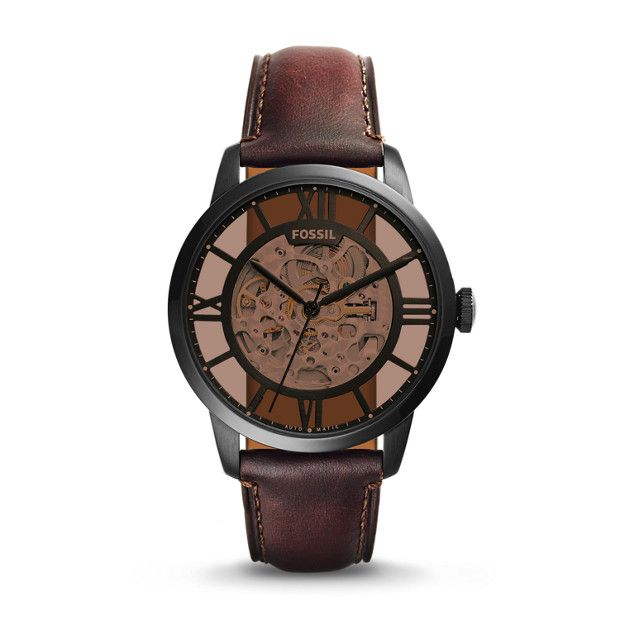 Montre Townsman automatique en cuir marron !