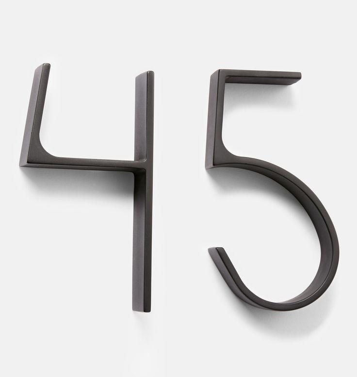 Warren House Numbers Oil-Rubbed Bronze C3501