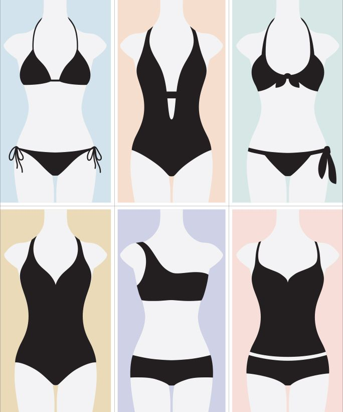 How to Find the Most Flattering Swimsuit‎ for Your Body Type from InStyle.com