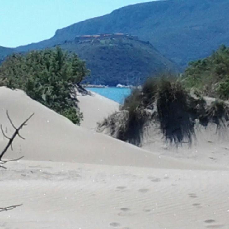La spiaggia della Feniglia e le sue dune #feniglia #maremma #toscana
