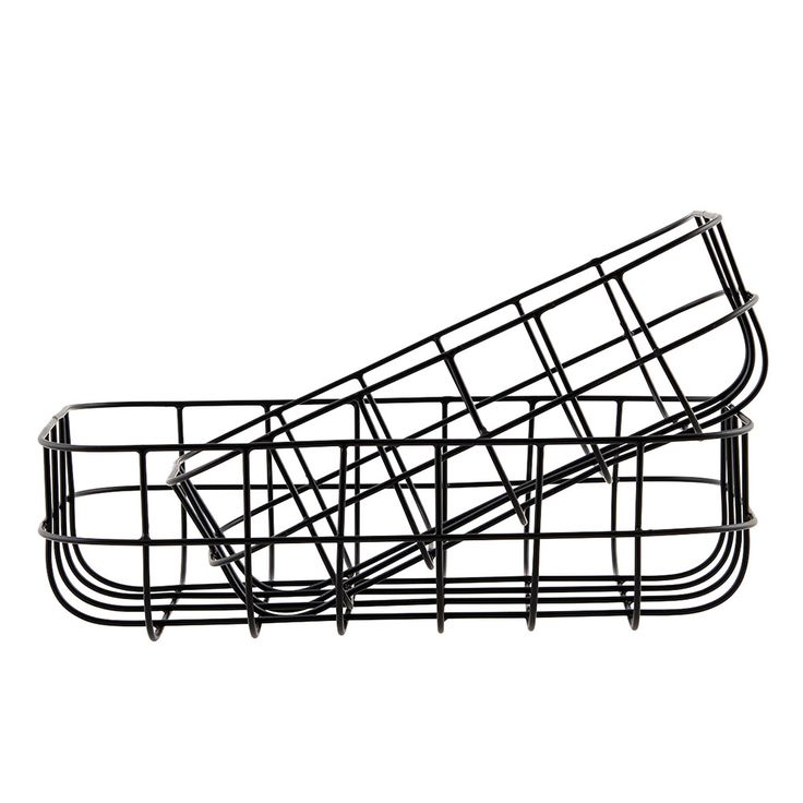 Simply Basket 2 pcs, Black, 180