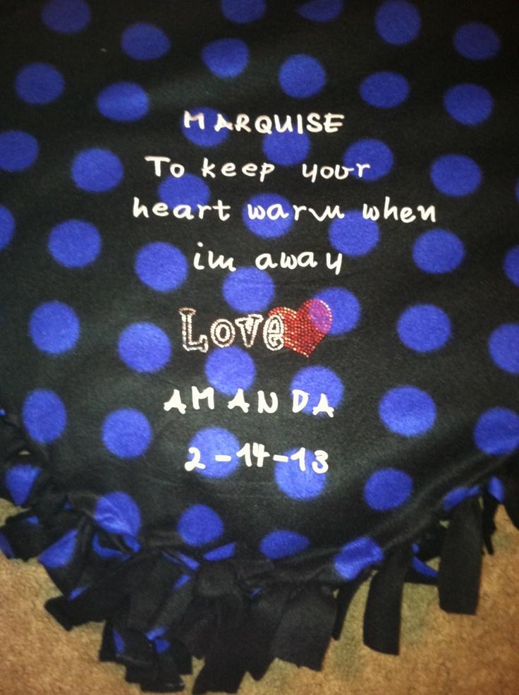 A Fleece Tie Blanket I Made For My Boyfriend For