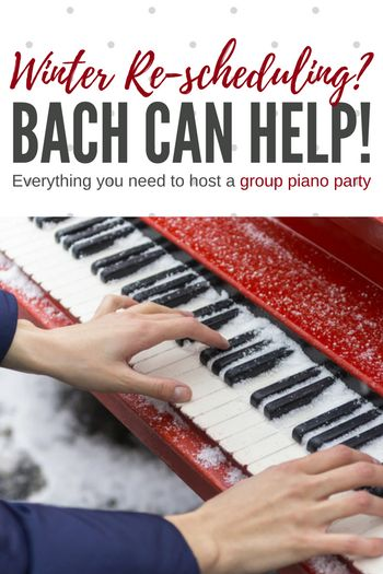 How Bach Can Help You Dig Out of the Snow; An Easy Solution to 'Snow Day' Make-Up Lessons | Teach Piano Today