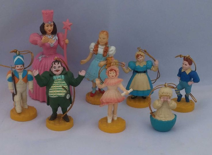 1987 Turner Macau Presents version Wizard of Oz figures, Wizard of Oz Munchkins, Dorothy, and Glenda collectible figurine, Wizard of Oz by FlowerChildTrends on Etsy