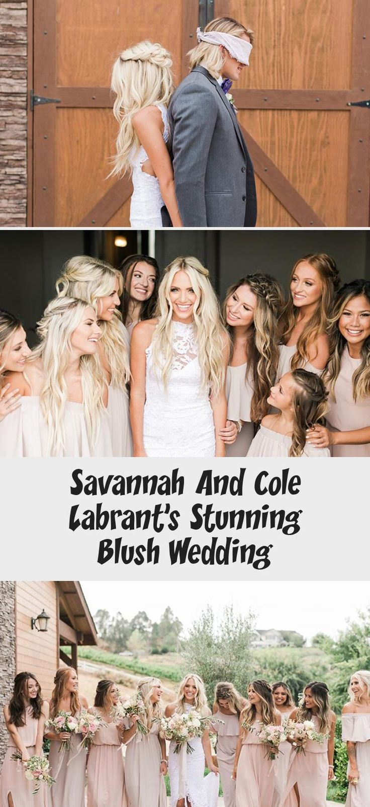 Savannah and Cole LaBrant's Stunning Blush Wedding - Inspired By This #TaupeBridesmaidDresses #BridesmaidDressesVintage #UniqueBridesmaidDresses #BridesmaidDressesBlue #VelvetBridesmaidDresses