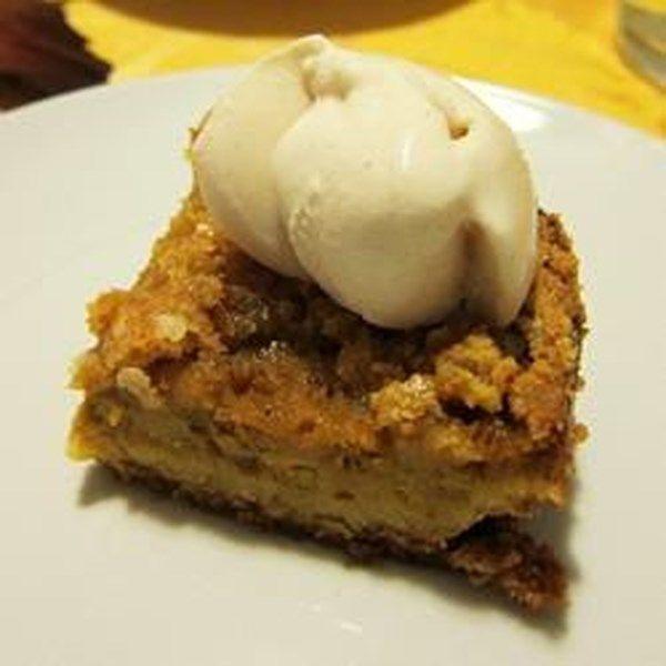 "Pumpkin Crisp | ""If you like pumpkin pie, you will love Pumpkin Crisp. I never make pumpkin pie anymore, this is better and easier."" #recipe #dessert"