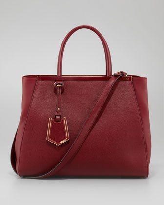 Fendi 2Jours Medium Tote Bag, Scarlet - Neiman Marcus