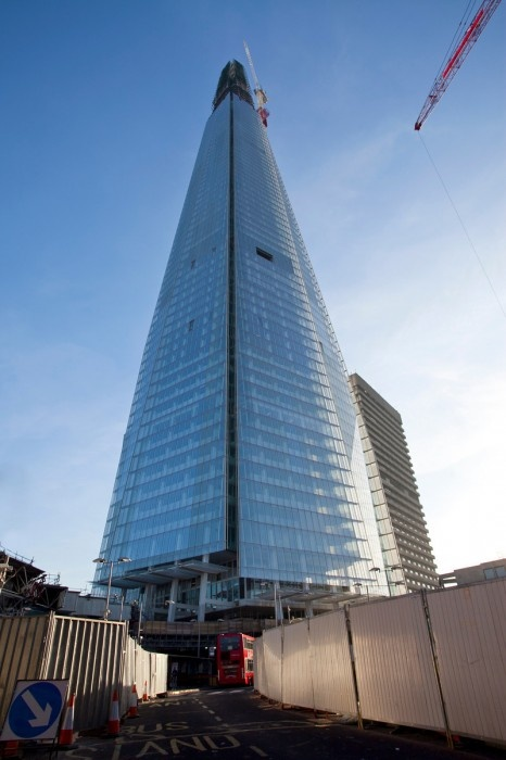 The Shard London Bridge, por Renzo Piano, la torre más alta de Europa.