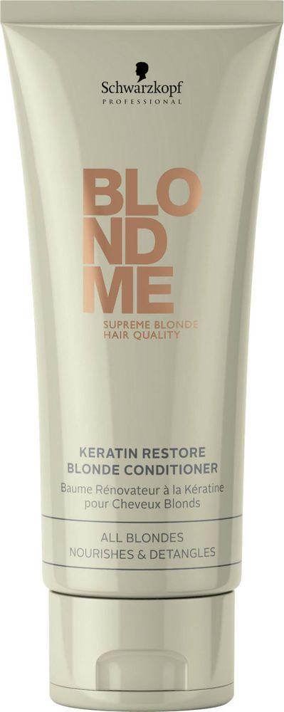 Schwarzkopf BlondMe Keratin Restore Bonding Conditioner 6.76 oz /  200 ml  #Schwarzkopf