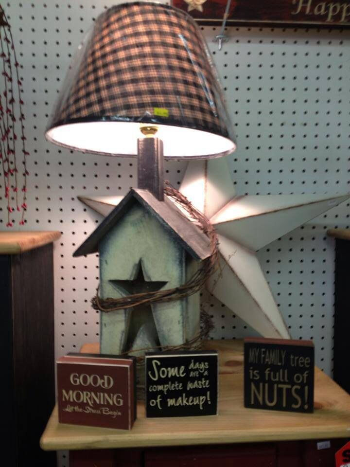Love the primitive lamp! Can't wait to pick mine up!!