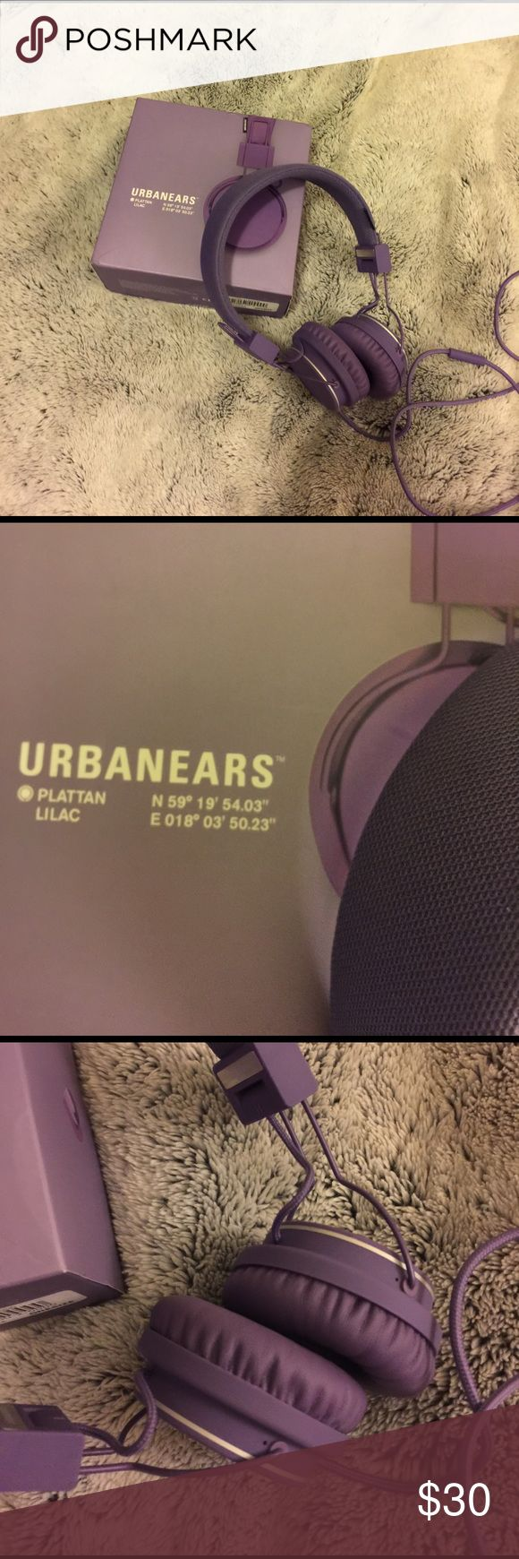 Urbanears Plattan Headphones in Lilac Urbanears Plattan headphones. New in box. Lilac color. These are super comfortable headphones that sell for $50 at Macy's Urbanears Other