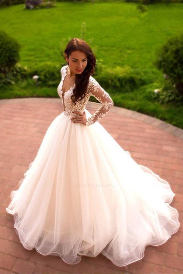 cb179cb79b4 Custom Made Dazzling Ball Gown Wedding Dresses