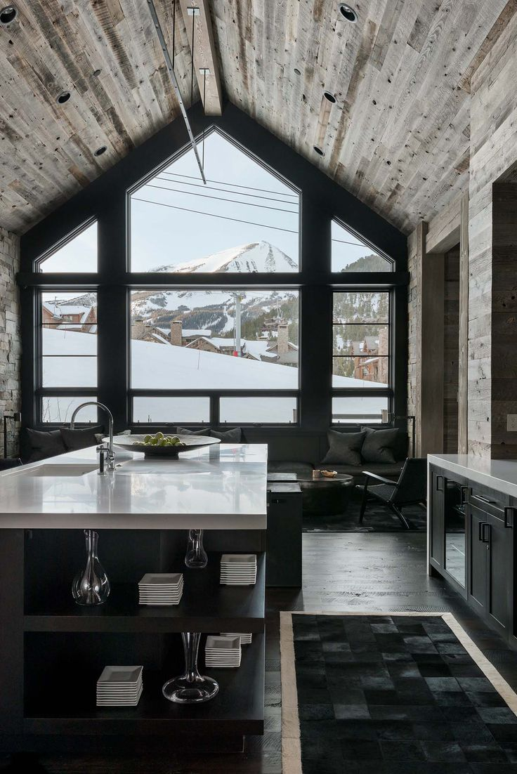 Hillside Snowcrest: The Ultimate Modern Rustic Ski Chalet In Montana