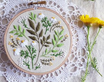 Embroidery art Embroidery designs Craft kit by TamarNahirYanai                                                                                                                                                                                 More