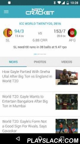 "NDTV Cricket  Android App - playslack.com ,  The official NDTV Cricket app provides live coverage of international and domestic cricket (Test, ODI & T20) along with latest News, Photos and Stats.To stop notifications (exit app), please deselect ""Show Notifications for Live Matches"" from More > SettingsThe NDTV Cricket app offers fastest live score updates via push technology with ball-by-ball commentary and much moreFull Feature List:-Live match coverage – ball-by-ball commentary…"
