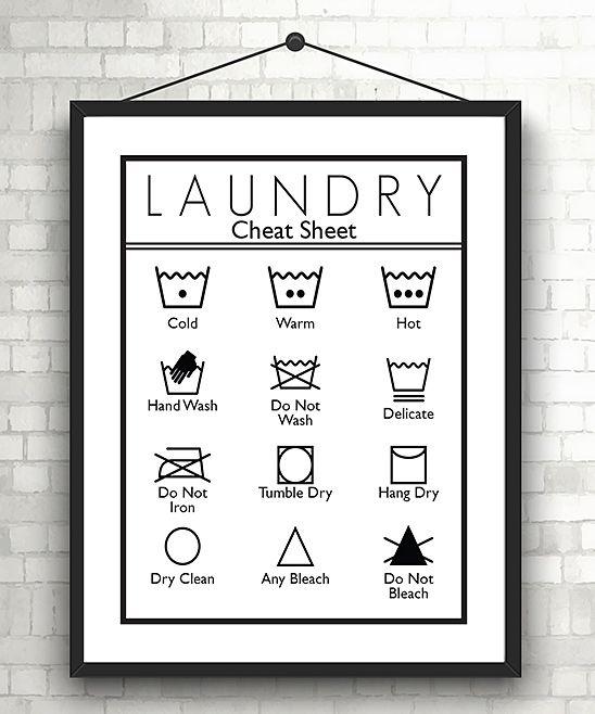 Laundry Care Symbols Print