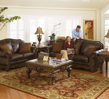 ashley furniture north shore living room set - North Shore Living Room Set