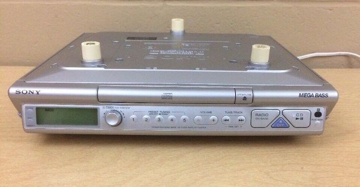 Sony ICF-CD543RM Under Cabinet Counter Clock Radio AM FM CD Player Mega Bass    eBay